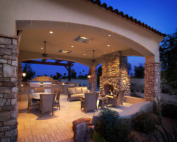 Altura construction services offered for Covered patio decorating ideas