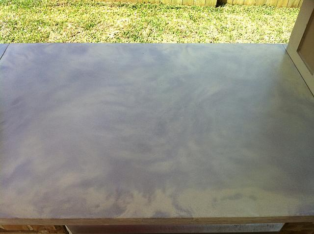 Outdoor Kitchen Stained Concrete Counters